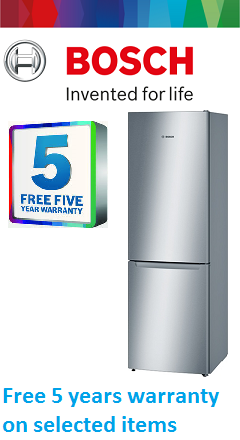 Bosch five years warranty
