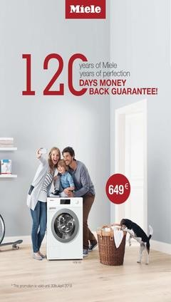 MIELE washing machine offer